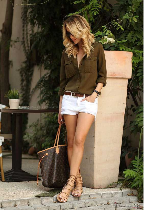 cute outfits with gladiator sandals