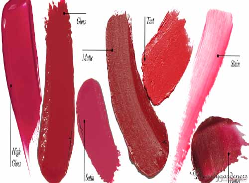 different types of lipstick finishes
