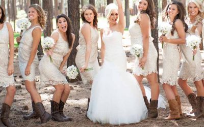 dress with cowboy boots wedding guest
