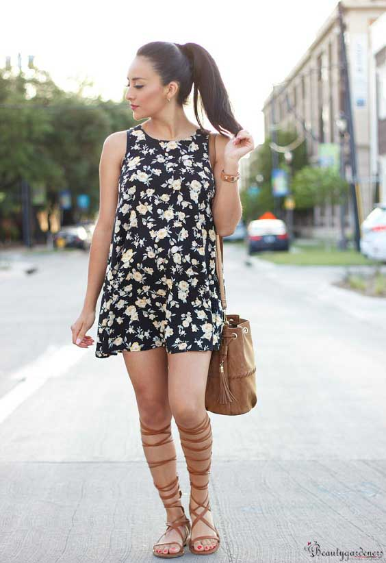 lace up sandals outfit